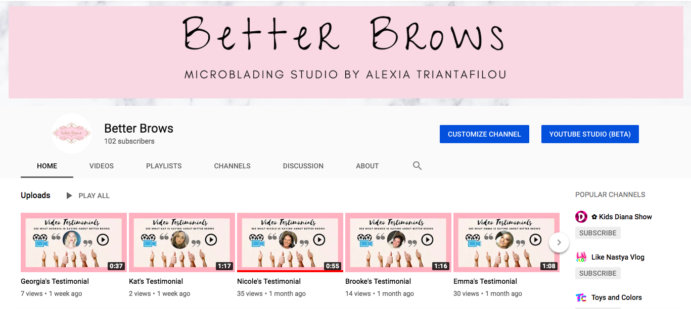 better brows youtube